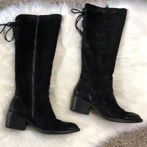 Born Black  Suede Leather Tall Boots